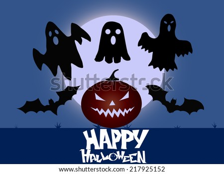 halloween party background with