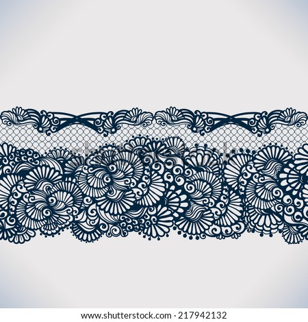 abstract lace ribbon seamless
