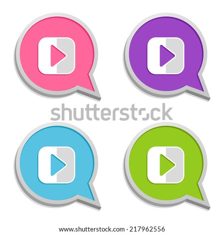 colorful speech bubble with