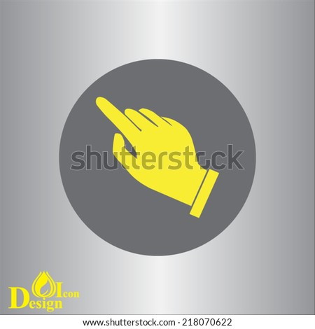 yellow vector icon on gray