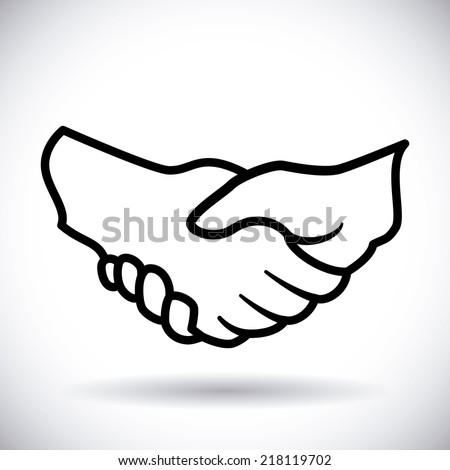 handshake design over white