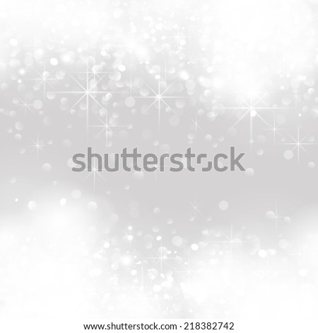 vector glittery lights silver