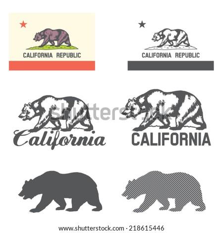 stylized flag of california