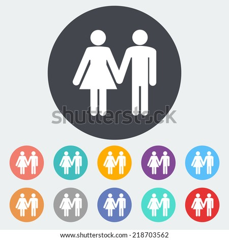 couple single flat icon on the