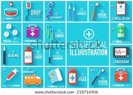 big illustration collection set
