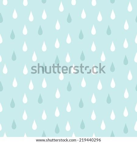 rain seamless vector pattern