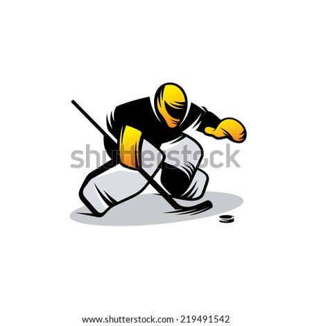 hockey vector sign branding