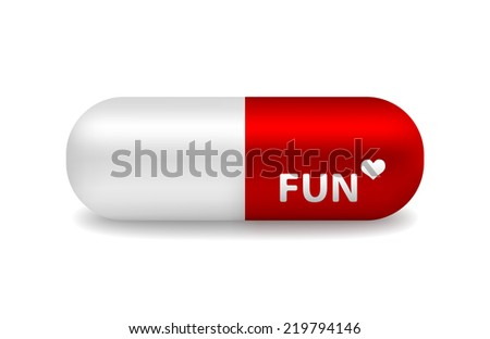 vector red and white pill of