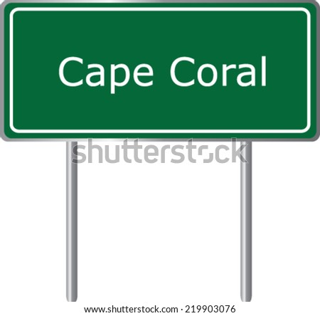 cape coral  florida  road sign
