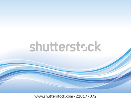 abstract blue waves for