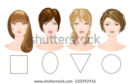 set of different woman's faces