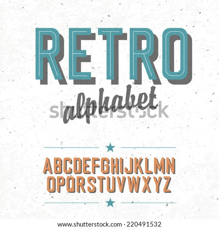 old cinema styled alphabet