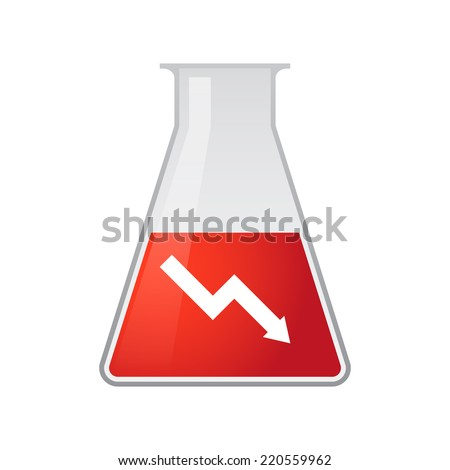illustration of a chemical test