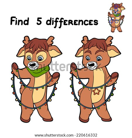 find 5 differences  deer