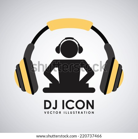 dj icon graphic design   vector