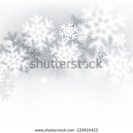 blurred winter background with