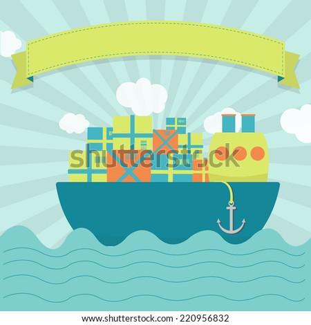 cargo ship cute cargo ship