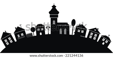 village  black silhouette