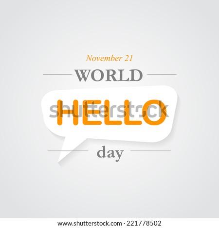 world hello day icon