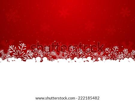 christmas snowflake border on