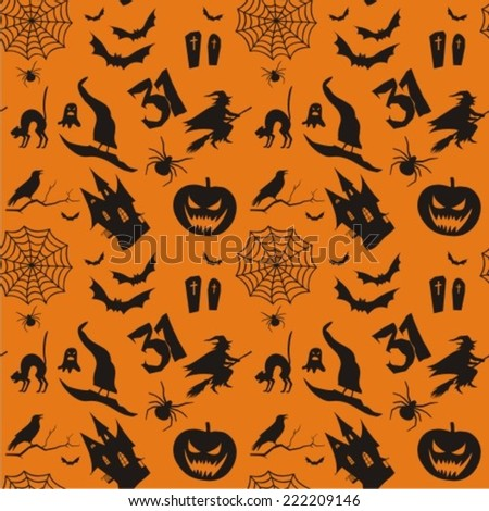 seamless pattern with pumpkins