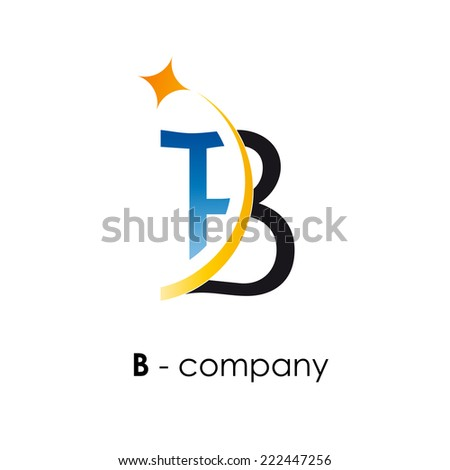 vector sign letter b with star