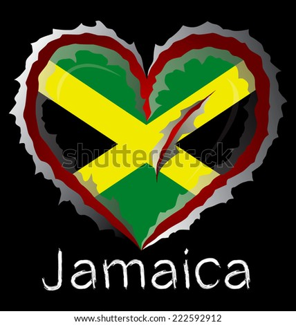 jamaica flag with in claw