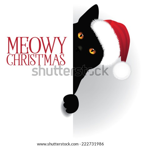 meowy christmas cat background