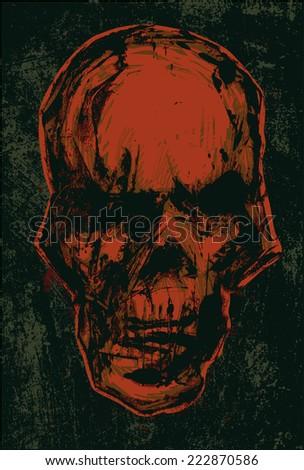 skull monotype style vector