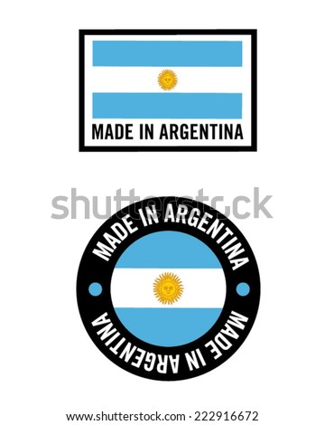 vector made in argentina icon