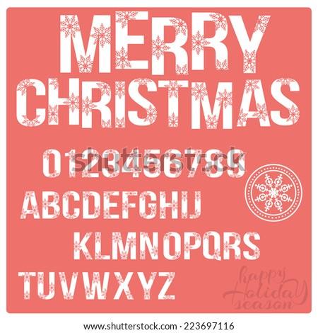 set of christmas stylized
