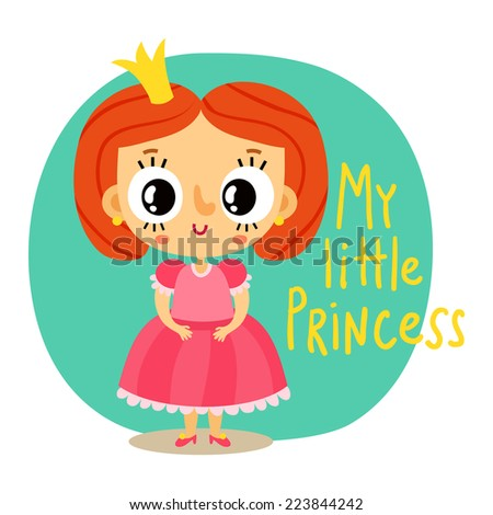 princess  little girl in pink