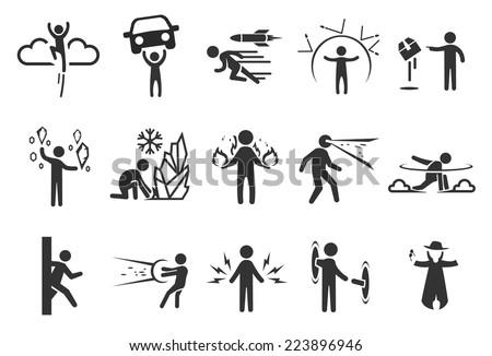 super hero icons   illustration