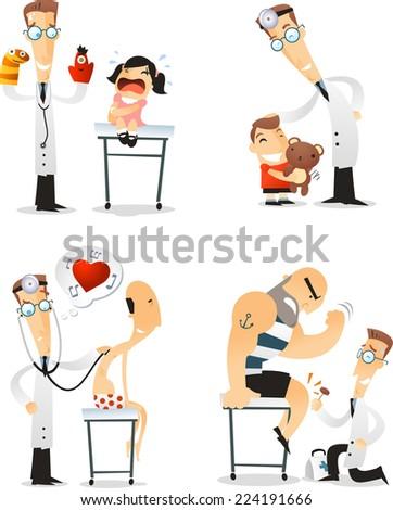 cartoon doctor set 3