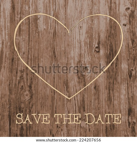 save the date card love heart