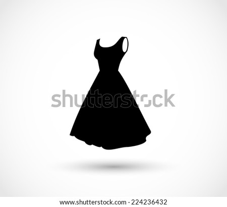 black dress icon vector