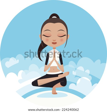 yoga woman praying pose