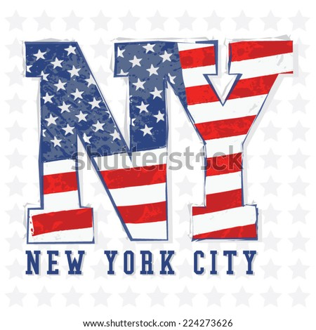 new york flag typography  t