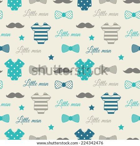 little man seamless pattern
