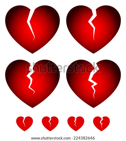 broken hearts dislike  sadness