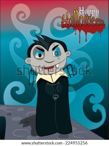 happy halloween  vampire