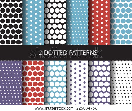 12 color dotted seamless
