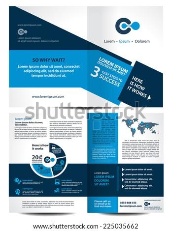 vector brochure  flyer