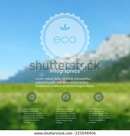 vector blurred landscape  eco