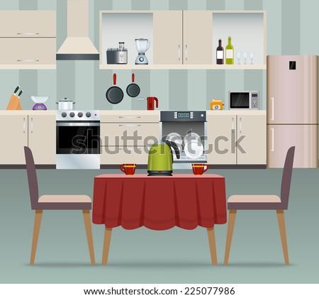 kitchen interior modern home