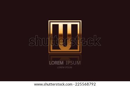 letter u logo alphabet