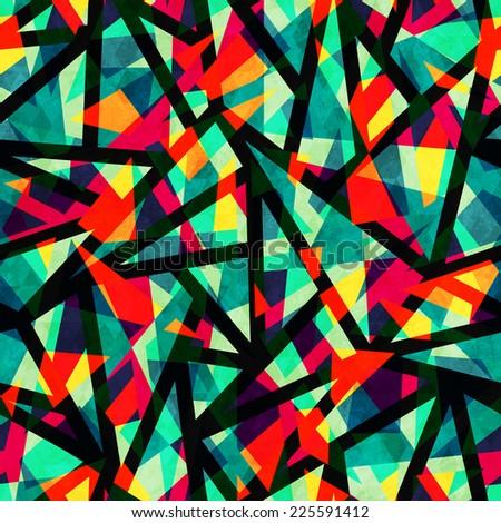 mosaic colored seamless pattern
