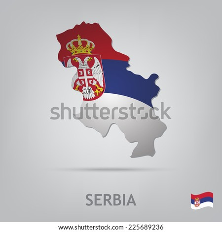 the flag of the country in the
