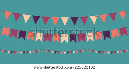 bunting kahwin vector