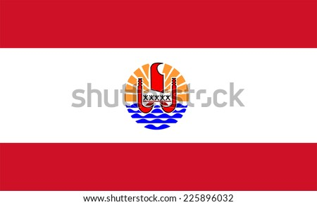 french polynesia flag vector